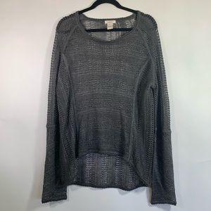 Sundance Gray Linen Sweater